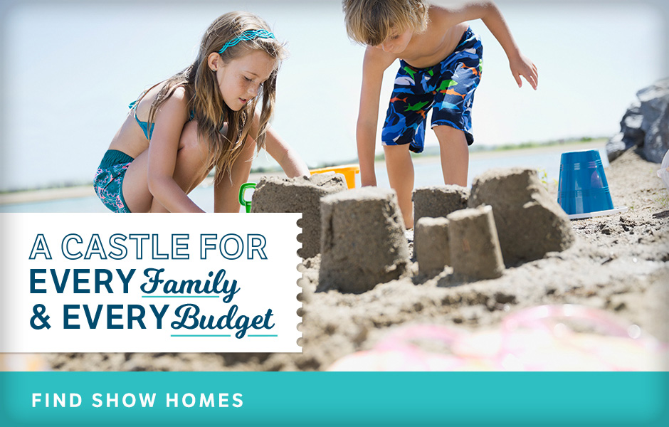 Castle for Every Family & Every Budget - image of kids building sandcastles